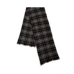 Suzanne Plaid Wool & Cashmere Scarf