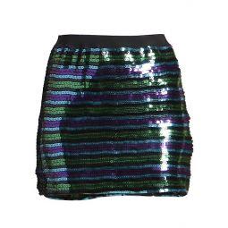 The Disco Sequin Stripe Mini Skirt