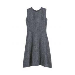 Twill Linen-Blend A-Line Dress