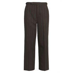 Runway Multi-Stripe Straight-Leg Wool Pants