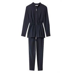 Double-Layer Plain-Weave Jumpsuit