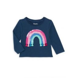 Babys & Little Girls Rainbow Tassel Long-Sleeve Top