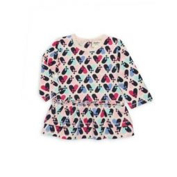Babys & Little Girls Pixel Hearts Baby Doll Top
