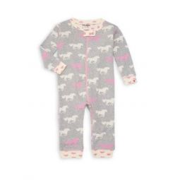 Baby Girls Pasture Horses Coveralls