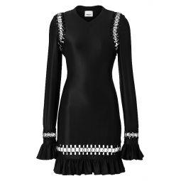 Ring-Frill Mini Dress