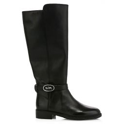 Ruby Leather Knee-Hight Riding Boots