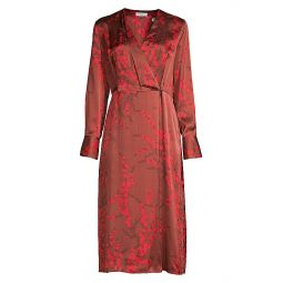 Willow Silk Wrap Dress