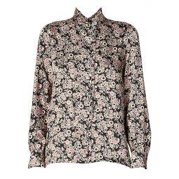 Paisley Printed High-Collar Shirt
