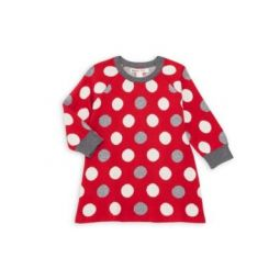 Baby Girls Holiday Dot Sweater Dress