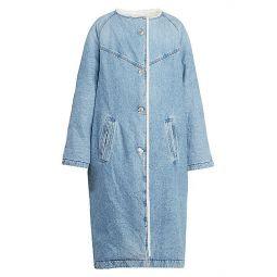 Kaleia Faux Shearling-Lined Denim Coat