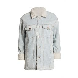Reversible Faux Fur & Denim Jacket