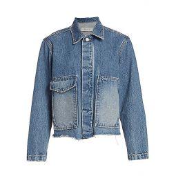 Jane Oversized-Pocket Denim Jacket