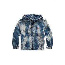 Little Boys Bleach-Effect Cotton Denim Jacket