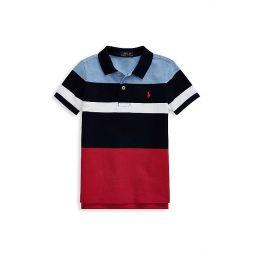 Little Boys Colorblock Cotton Polo Shirt