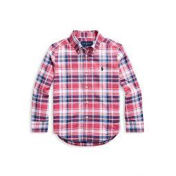 Little Boys & Boys Plaid Cotton Shirt