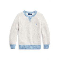 Little Boys & Boys Waffle Cotton Sweater