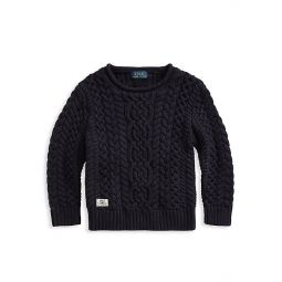 Little Boys & Boys Aran Cable-Knit Cotton Sweater