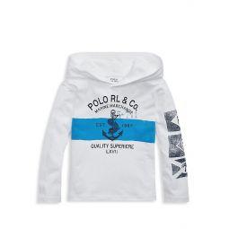 Little Boys Nautical Logo Hoodie