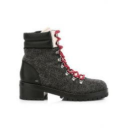 Lorren Leather-Trimmed Wool Hiking Boots