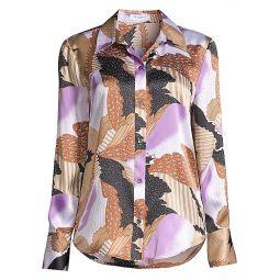 Sedienne Graphic-Print Silk Shirt
