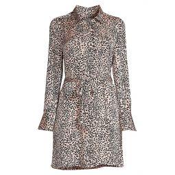 Temera Leopard-Print Shirtdress