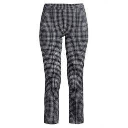 Micro Check Cropped Cigarette Pants