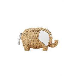 Large Tiny Elephant Wicker Crossbody Bag
