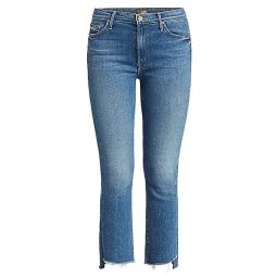 The Insider High-Rise Crop Step Fray Hem Jeans