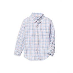 Babys, Little Boys & Boys Checkered Button-Front Shirt