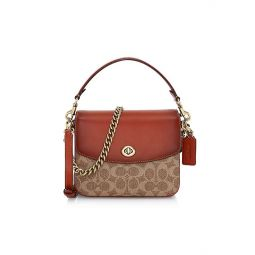 Cassie Signature Coated Canvas & Leather Crossbody Bag