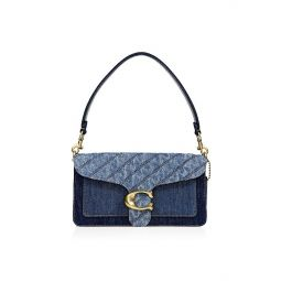 Tabby Quilted Denim Shoulder Bag
