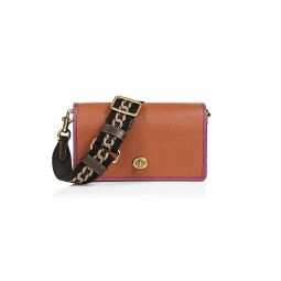 Hayden Colorblock Leather Crossbody Clutch