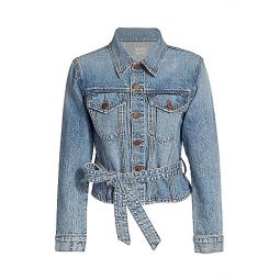 Teresa Cinch Waist Denim Jacket