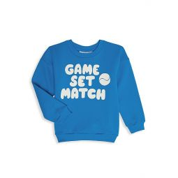 Little Kids & Kids Game Set Match Slogan Sweatshirt