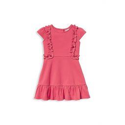 Little Girls & Girls Ruffled Pink Ponte Dress