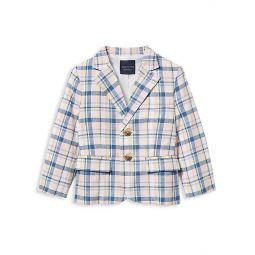 Babys, Little Boys & Boys Linen-Blend Plaid Jacket