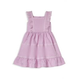 Little Girls & Girls Organza Ruffled Fit-&-Flare Dress