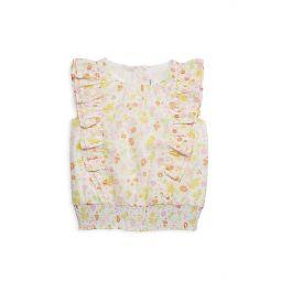 Little Girls & Girls Ruffled Floral-Print Top