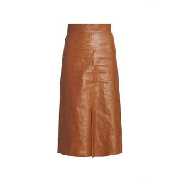 Domiae Faux-Leather Skirt