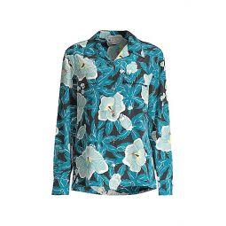 Amaia Silk Button-Up Blouse