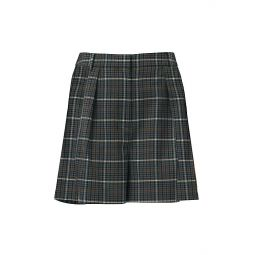 Gabe Pleated Plaid Shorts