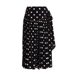 The 80s Polka Dot Pleated Skirt