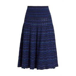 The Knit Printed Wool Midi Skirt
