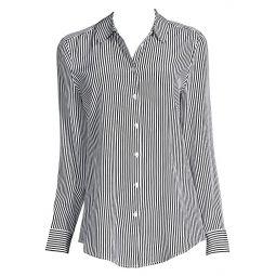 Essential Striped Silk Blouse