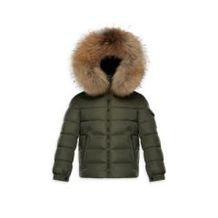 Kids Fox Fur-Trimmed Puffer Jacket