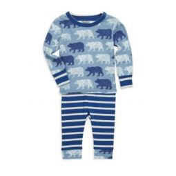 Baby Boys Two-Piece Polar Bear Pajama Set