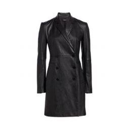 Leather Blazer Dress