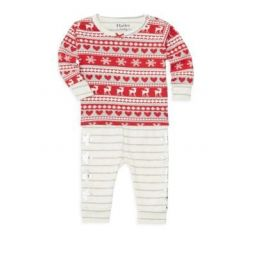 Baby Girls Fair Isle Top & Pants Set