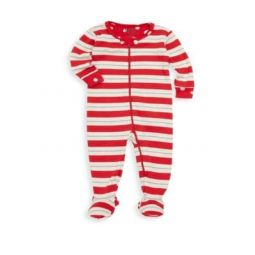 Baby Girls Striped Footie
