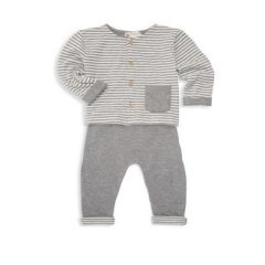 Baby Boys Two-Piece Striped Layette Set